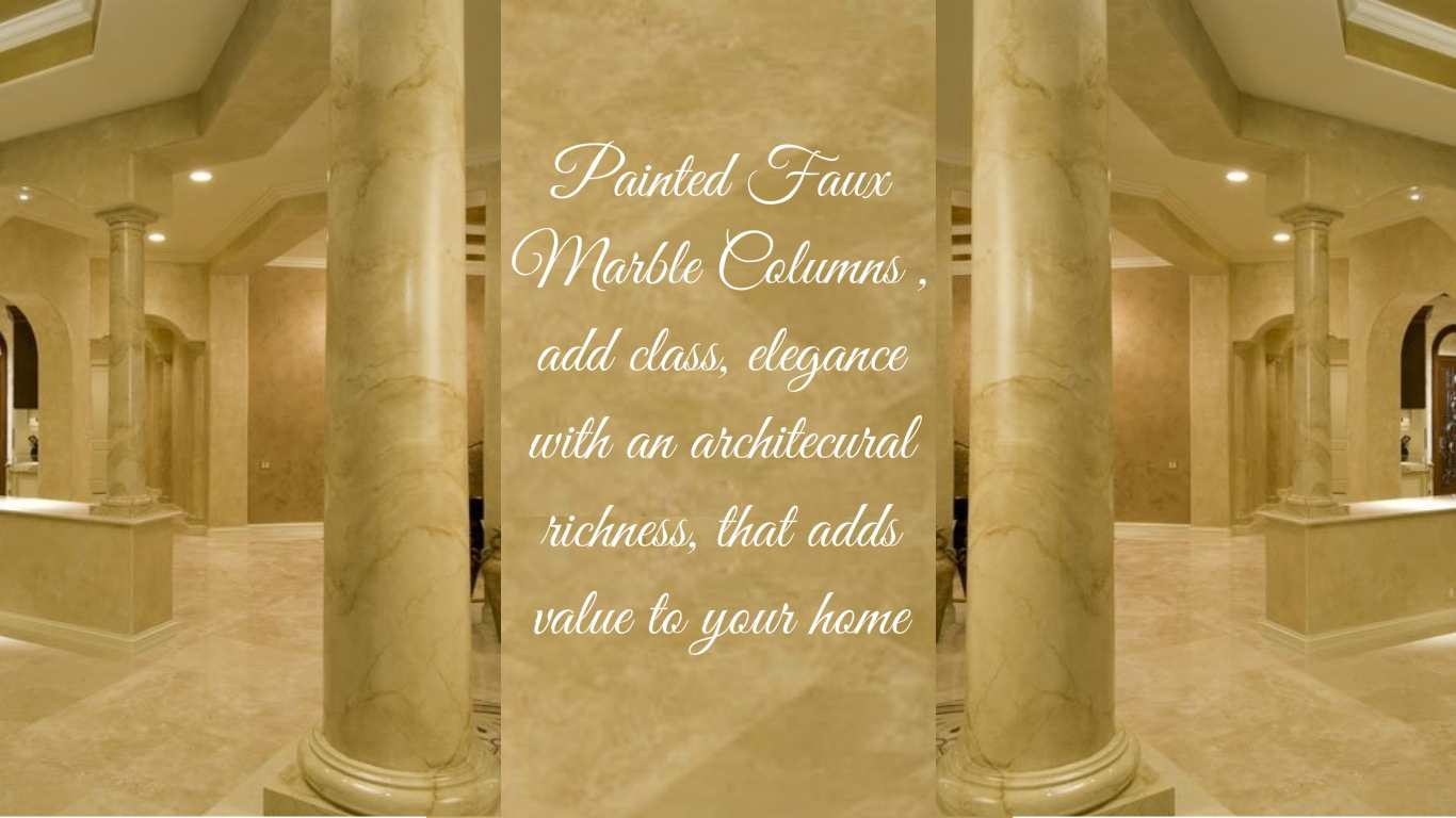 Faux Marble columns  You look Marbleous Collection