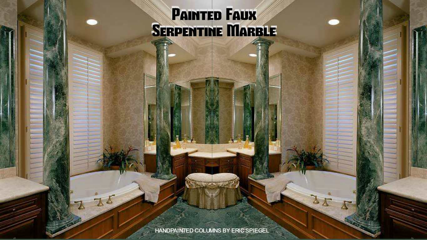 PAINTED FAUX SERPENTINE MARBLE  YOU LOOK MARBLEOUS COLLECTION