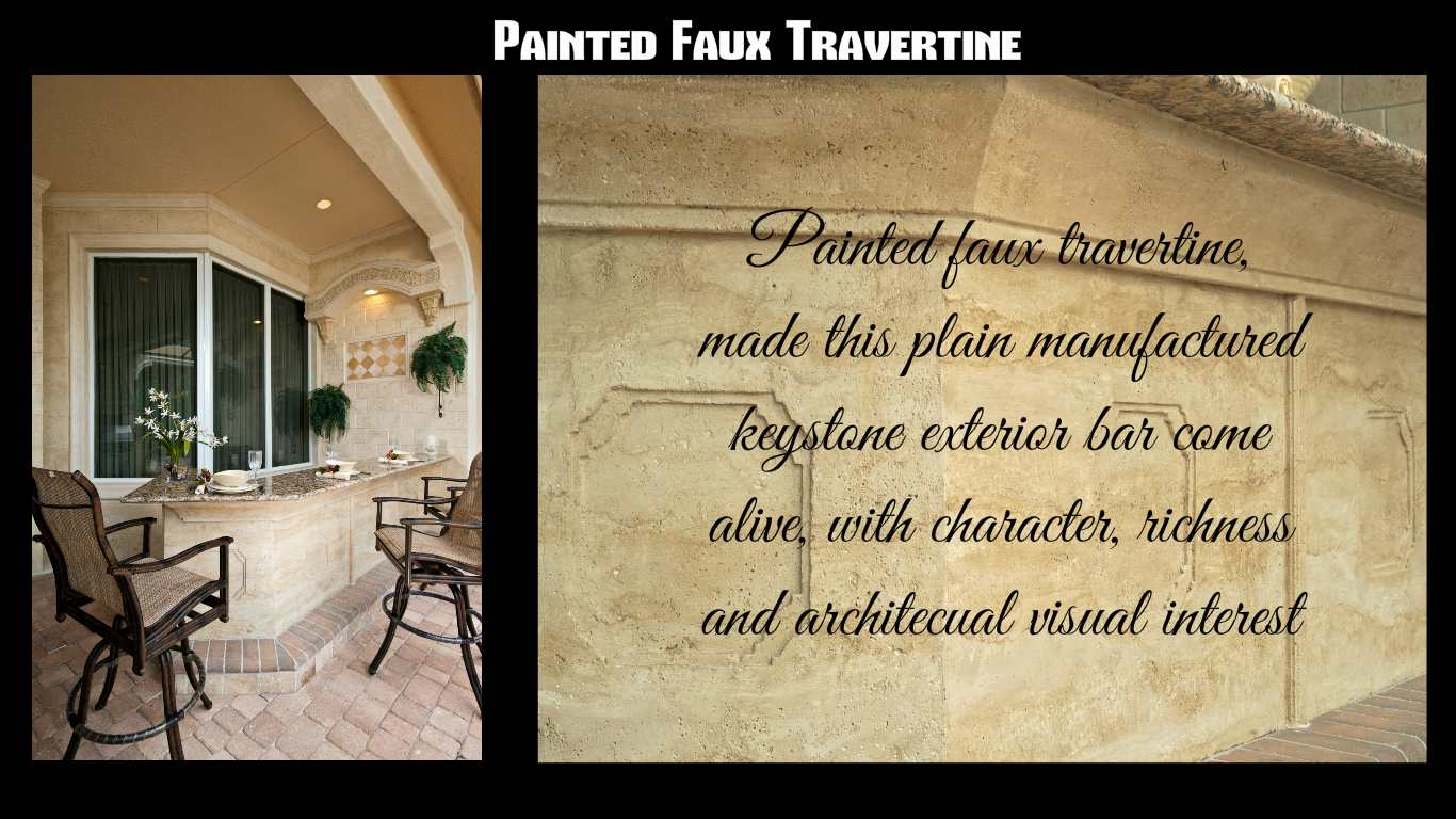 painted faux Travertine  You look marbleous collection