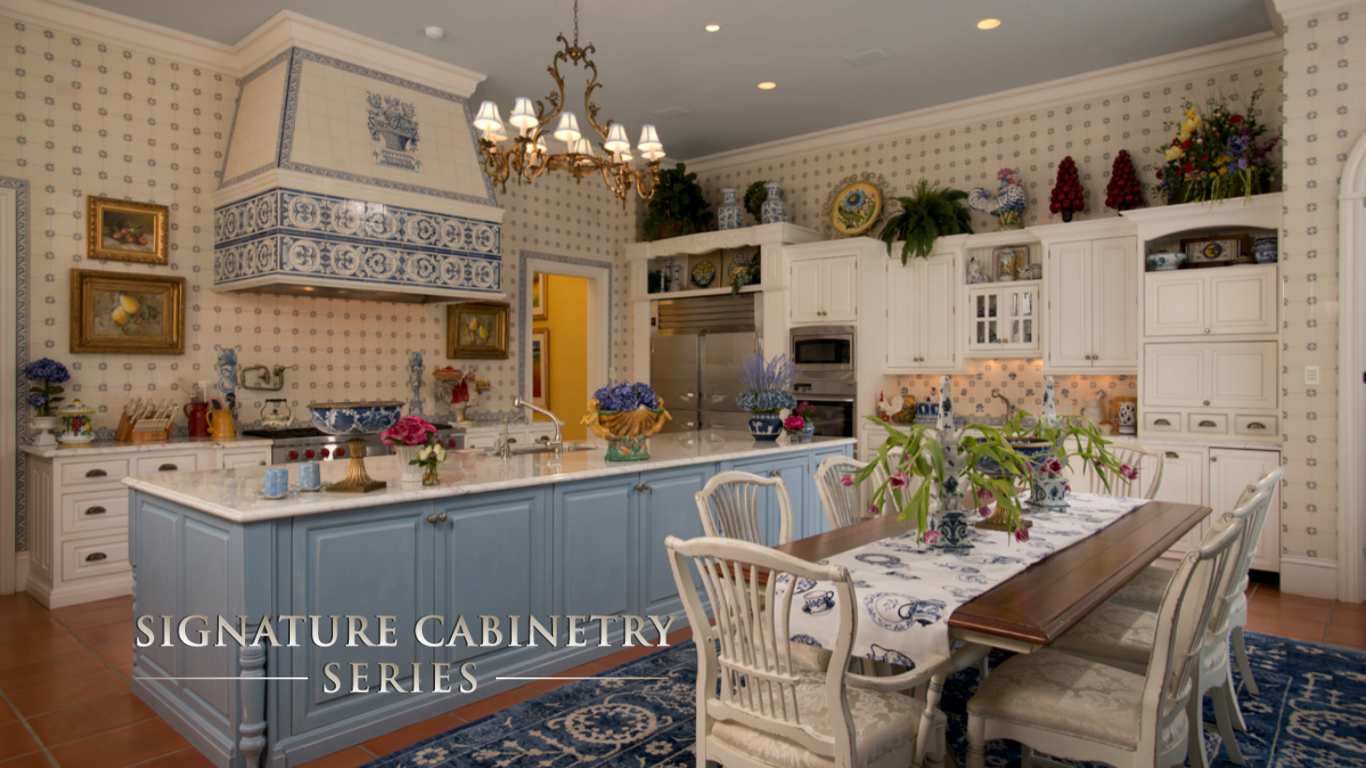 signature cabinetry series blue